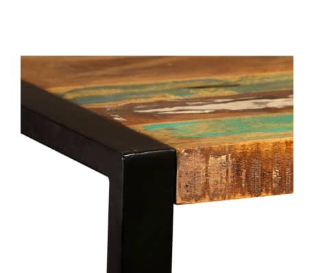vidaXL Valgomojo stalas, masyvi perdirbta mediena, 120cm[9/12]
