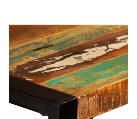 vidaXL Valgomojo stalas, masyvi perdirbta mediena, 120cm[10/12]