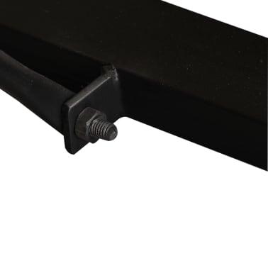 vidaXL Valgomojo stalas, masyvi perdirbta mediena, 120cm[11/12]