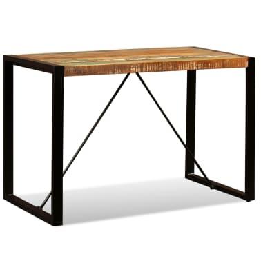 vidaXL Valgomojo stalas, masyvi perdirbta mediena, 120cm[4/12]