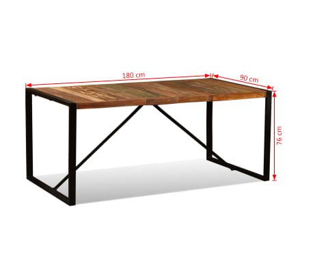 "vidaXL Dining Table Solid Reclaimed Wood 70.9""[11/11]"