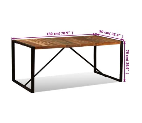 VidaXL Table De Salle à Manger Bois De Récupération Massif 180 Cm[11/11