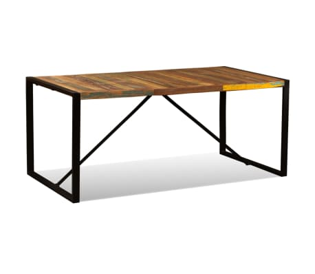"vidaXL Dining Table Solid Reclaimed Wood 70.9""[3/11]"