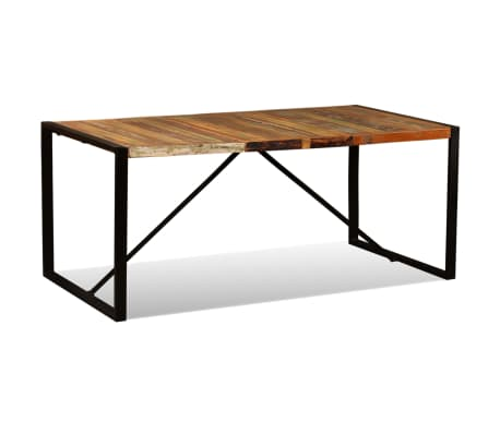 "vidaXL Dining Table Solid Reclaimed Wood 70.9""[4/11]"