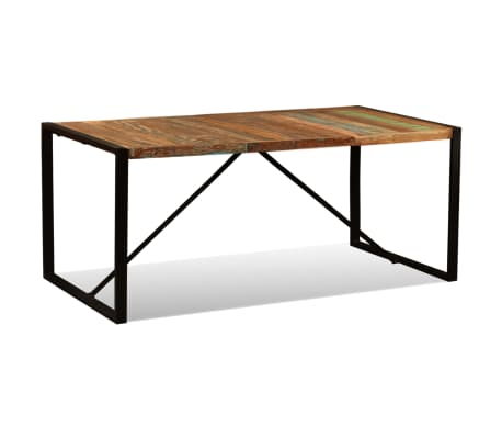 "vidaXL Dining Table Solid Reclaimed Wood 70.9""[5/11]"