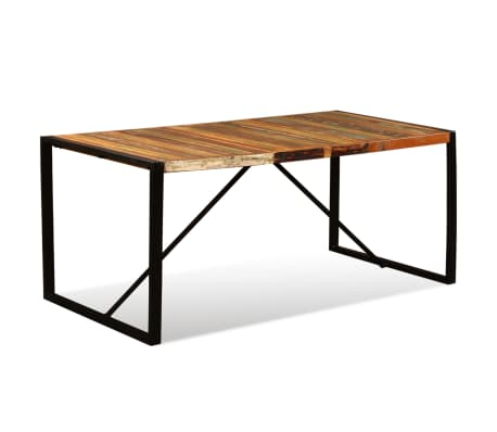 "vidaXL Dining Table Solid Reclaimed Wood 70.9""[6/11]"