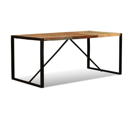 vidaXL Eettafel 180 cm massief gerecycled hout[7/11]