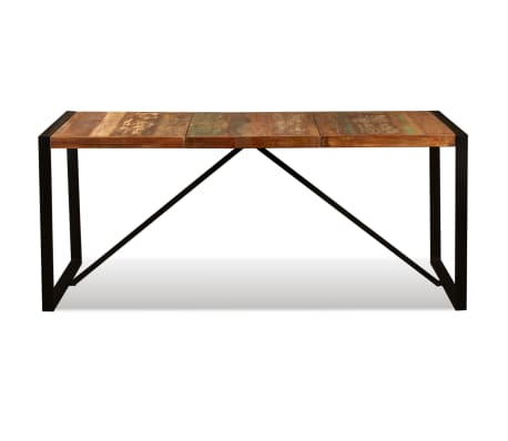 "vidaXL Dining Table Solid Reclaimed Wood 70.9""[8/11]"