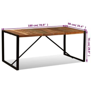 vidaXL Eettafel 180 cm massief gerecycled hout[11/11]