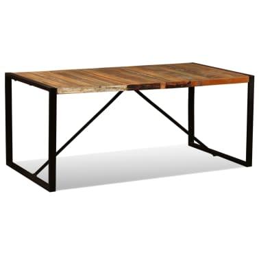 vidaXL Eettafel 180 cm massief gerecycled hout[4/11]