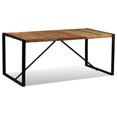 vidaXL Eettafel 180 cm massief gerecycled hout[5/11]