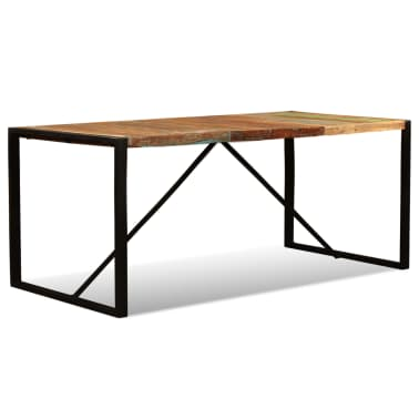 "vidaXL Dining Table Solid Reclaimed Wood 70.9""[7/11]"