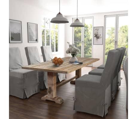 acheter vidaxl table de salle manger massive 200x100x75 cm bois de teck pas cher. Black Bedroom Furniture Sets. Home Design Ideas