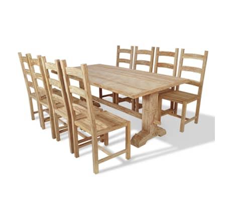 vidaxl 9 tlg essgruppe tisch mit st hlen teak g nstig kaufen. Black Bedroom Furniture Sets. Home Design Ideas