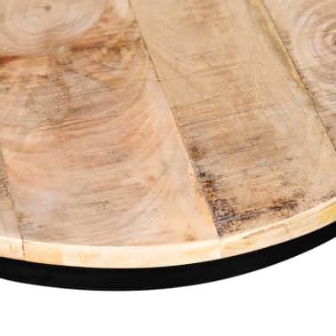 vidaXL Coffee Table Set 2 Pieces Rough Mango Wood Round 40/50 cm[6/7]