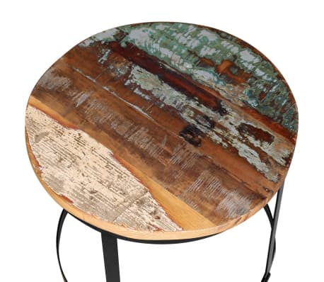 Vidaxl Coffee Table Set 2 Pieces Solid Reclaimed Wood Round 4050cm