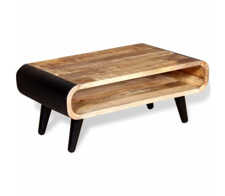 "vidaXL Coffee Table Rough Mango Wood 35.4""x21.7""x15.4"""