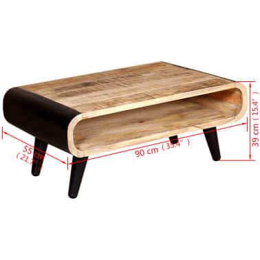 "vidaXL Coffee Table Rough Mango Wood 35.4""x21.7""x15.4""[8/8]"