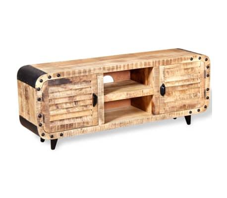 "vidaXL TV Cabinet Rough Mango Wood 47.2""x11.8""x19.7""[3/9]"