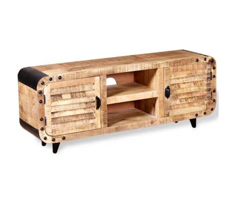 "vidaXL TV Cabinet Rough Mango Wood 47.2""x11.8""x19.7""[4/9]"