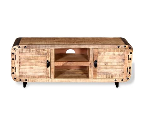 "vidaXL TV Cabinet Rough Mango Wood 47.2""x11.8""x19.7""[6/9]"