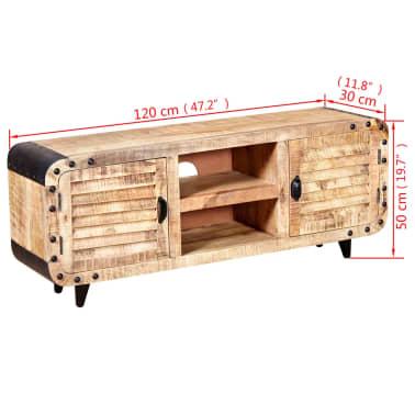 "vidaXL TV Cabinet Rough Mango Wood 47.2""x11.8""x19.7""[9/9]"