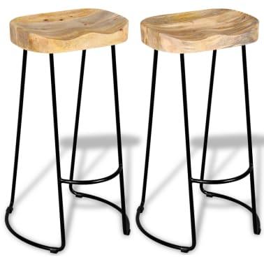 vidaXL Gavin Barske stolice 2 kom Masivno Mango Drvo[1/9]