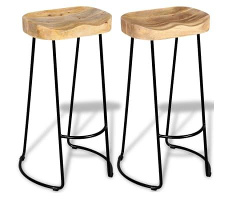 vidaXL Gavin Barske stolice 2 kom Masivno Mango Drvo[4/9]