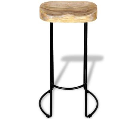 vidaXL Bar Stools 2 pcs Solid Mango Wood[6/9]
