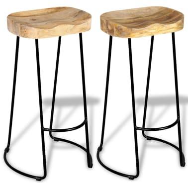 vidaXL Gavin Barske stolice 2 kom Masivno Mango Drvo[5/9]