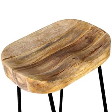 vidaXL Bar Stools 2 pcs Solid Mango Wood[7/9]