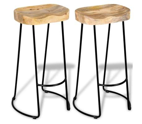 Vidaxl Gavin Bar Stools 2 Pcs Solid Mango Wood Vidaxl Ie