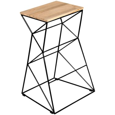 vidaXL Bar Stool Solid Mango Wood[1/9]