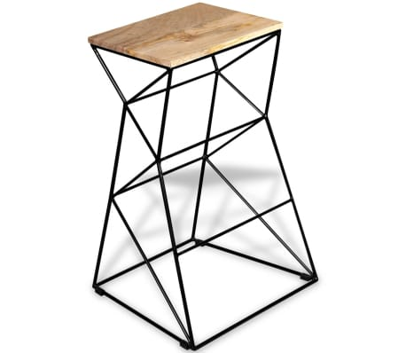 vidaXL Bar Stool Solid Mango Wood[2/9]