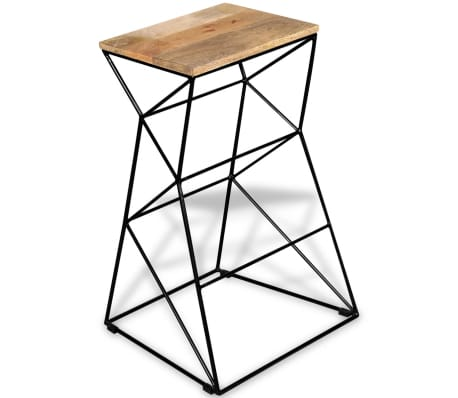 vidaXL Bar Stool Solid Mango Wood[4/9]