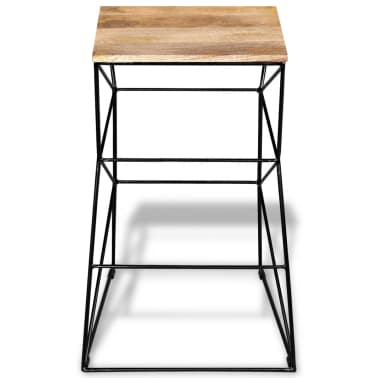 vidaXL Bar Stool Solid Mango Wood[6/9]