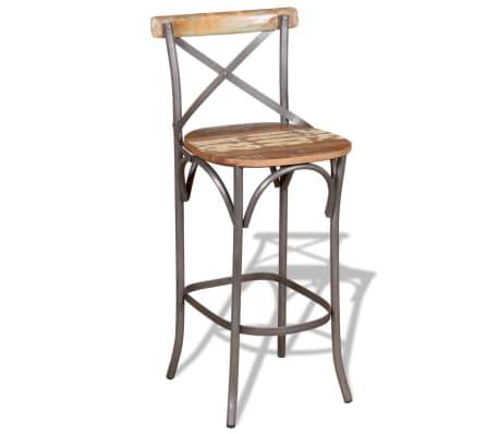 "vidaXL Bar Chair Solid Reclaimed Wood 17.7""x17.7""x43.3""[1/9]"