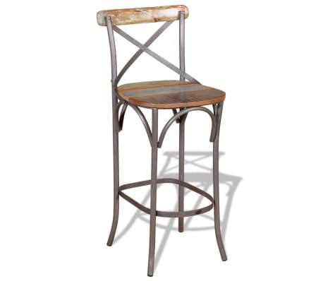 "vidaXL Bar Chair Solid Reclaimed Wood 17.7""x17.7""x43.3""[3/9]"