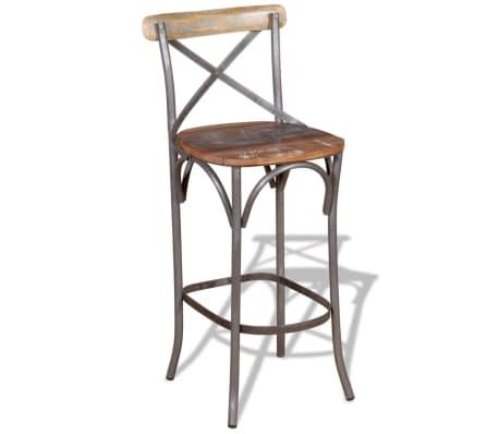 "vidaXL Bar Chair Solid Reclaimed Wood 17.7""x17.7""x43.3""[5/9]"