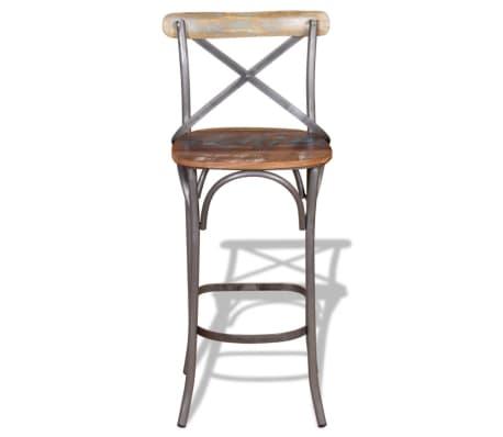 "vidaXL Bar Chair Solid Reclaimed Wood 17.7""x17.7""x43.3""[6/9]"