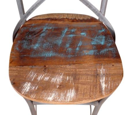 "vidaXL Bar Chair Solid Reclaimed Wood 17.7""x17.7""x43.3""[8/9]"