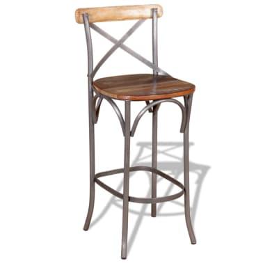 "vidaXL Bar Chair Solid Reclaimed Wood 17.7""x17.7""x43.3""[2/9]"