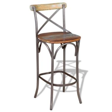 "vidaXL Bar Chair Solid Reclaimed Wood 17.7""x17.7""x43.3""[4/9]"