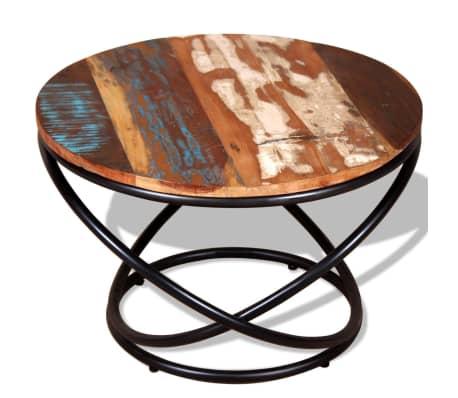 vidaXL Stolik kawowy z drewna odzyskanego 60x60x40 cm[6/9]