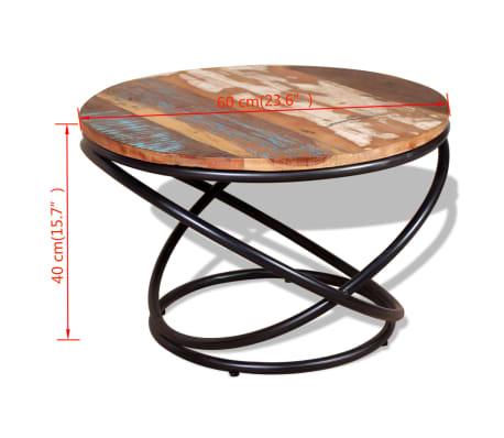 vidaXL Stolik kawowy z drewna odzyskanego 60x60x40 cm[9/9]