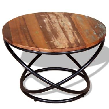 vidaXL Stolik kawowy z drewna odzyskanego 60x60x40 cm[2/9]