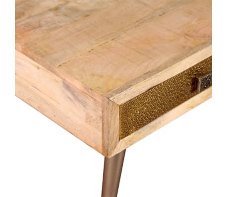 "vidaXL Coffee Table with Drawers Solid Mango Wood 41.3""x21.7""x16""[9/11]"