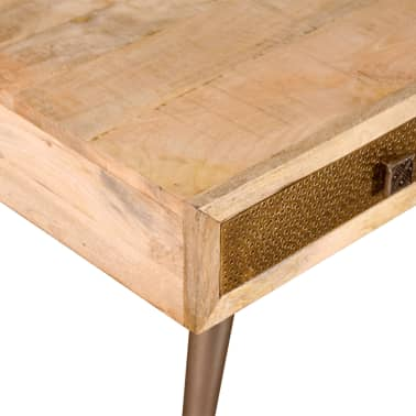 vidaXL Stolik kawowy z szufladami, drewno mango 105x55x41cm[8/10]