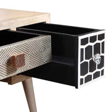 "vidaXL Coffee Table with Drawers Solid Mango Wood 41.3""x21.7""x16""[10/11]"