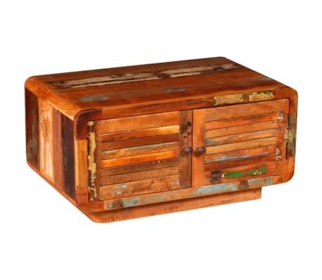 vidaXL Măsuță de cafea din lemn masiv reciclat 80 x 50 x 40 cm